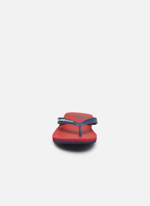 Infradito Quiksilver Molokai Youth Rosso modello indossato