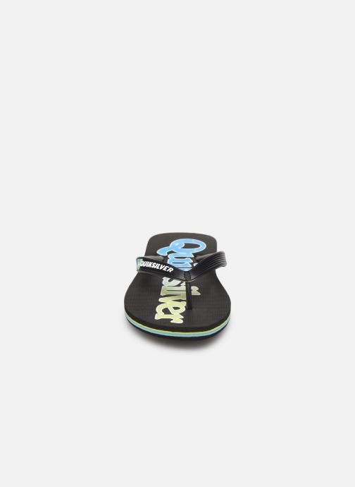 Zehensandalen Quiksilver Molokai Wordmark Fineline Youth schwarz schuhe getragen