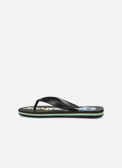 Chanclas Quiksilver Molokai Wordmark Fineline Youth Negro vista de frente