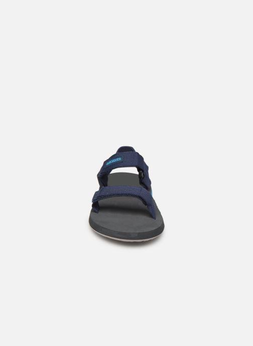 Sandali e scarpe aperte Quiksilver Monkey Caged  Youth Azzurro modello indossato