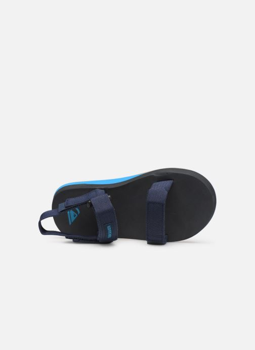Sandals Quiksilver Monkey Caged  Youth Blue view from the left