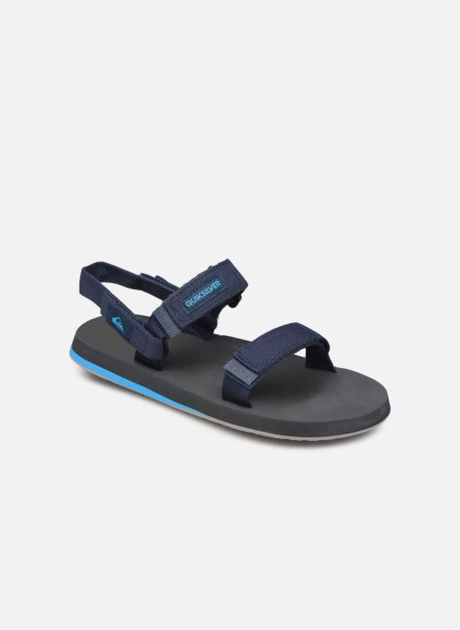 Sandals Quiksilver Monkey Caged  Youth Blue detailed view/ Pair view