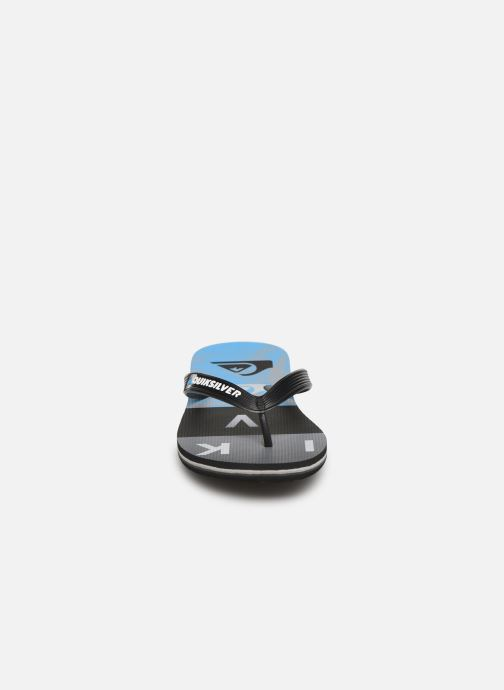 Tongs Quiksilver Molokai Wordblock Volley Youth Bleu vue portées chaussures