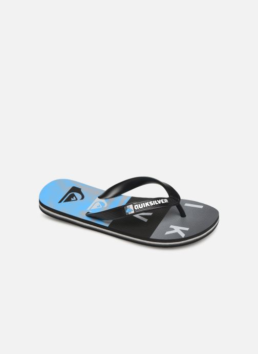 Flip flops Quiksilver Molokai Wordblock Volley Youth Blue detailed view/ Pair view