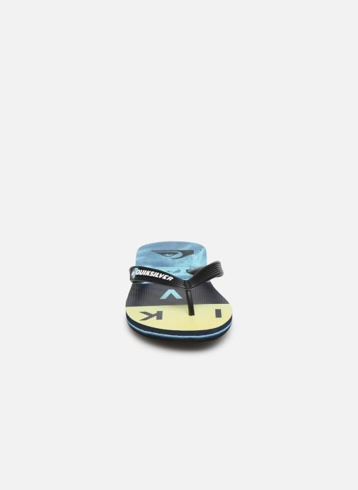 Tongs Quiksilver Molokai Wordblock Volley Youth Multicolore vue portées chaussures