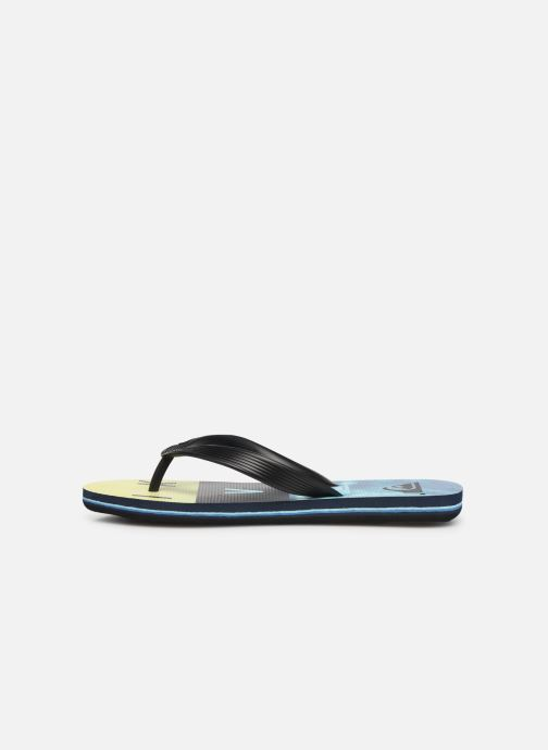 Tongs Quiksilver Molokai Wordblock Volley Youth Multicolore vue face