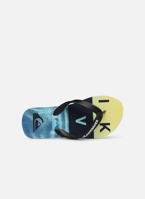 Tongs Quiksilver Molokai Wordblock Volley Youth Multicolore vue gauche