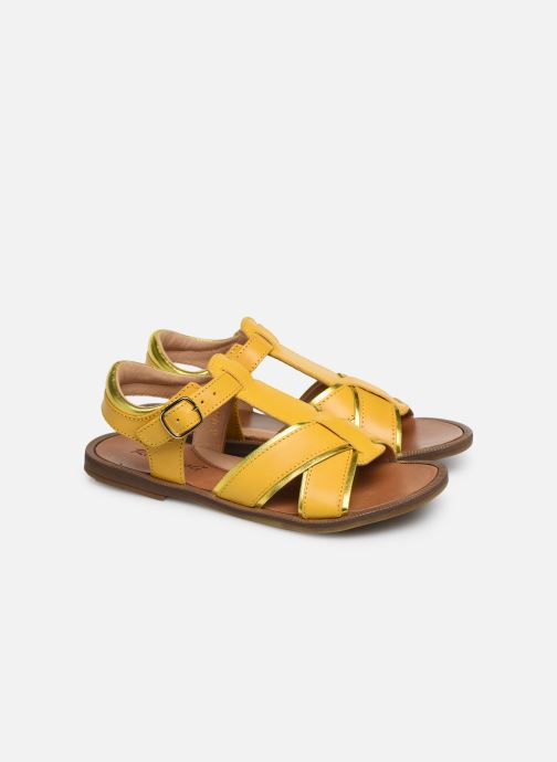 Sandals Romagnoli Amanda Yellow 3/4 view