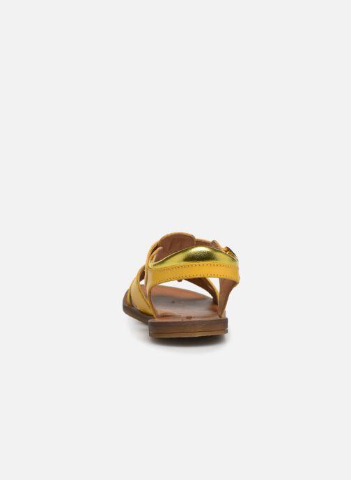 Sandales et nu-pieds Romagnoli Amanda Jaune vue droite