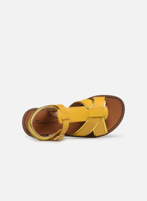 Sandales et nu-pieds Romagnoli Amanda Jaune vue gauche