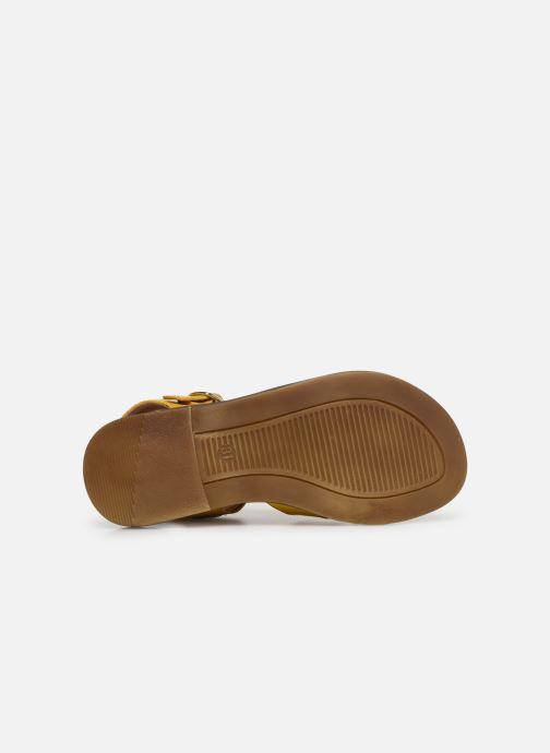 Sandales et nu-pieds Romagnoli Amanda Jaune vue haut