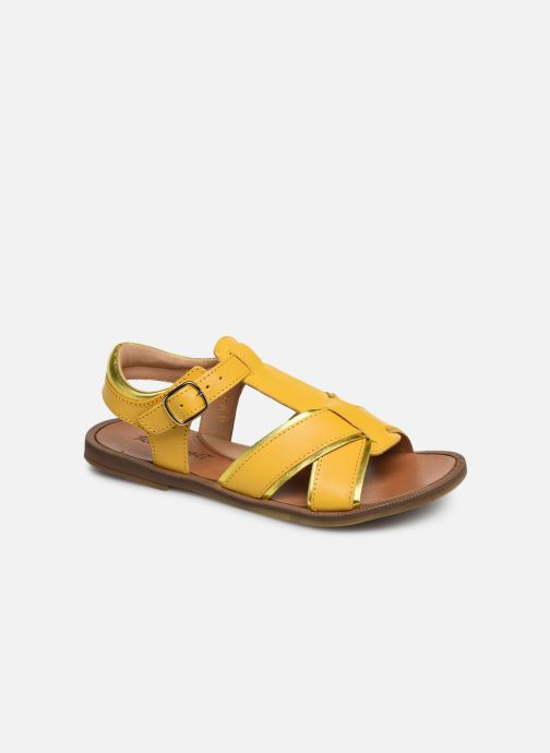 Sandals Romagnoli Amanda Yellow detailed view/ Pair view