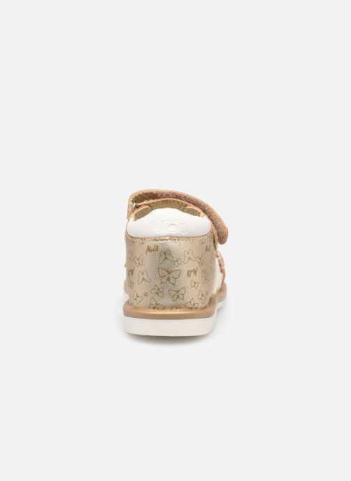 Sandales et nu-pieds Mod8 Shadia Or et bronze vue droite