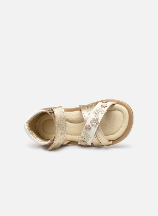 Sandales et nu-pieds Mod8 Shadia Or et bronze vue gauche