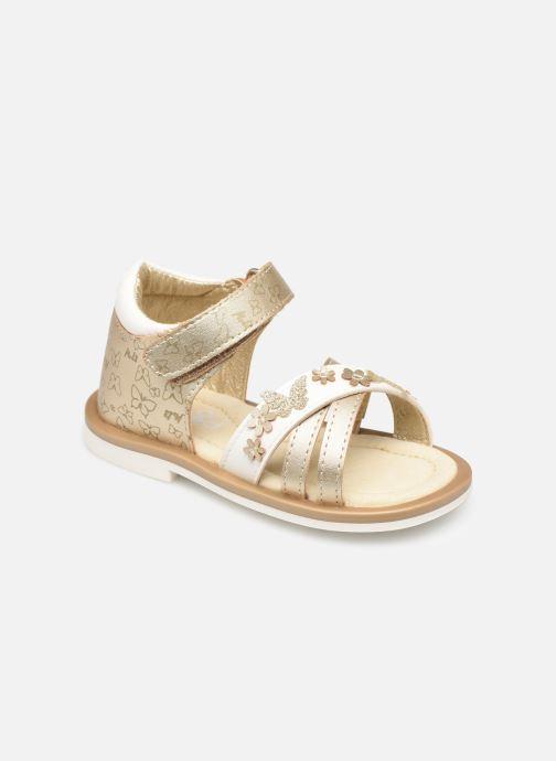 Sandales et nu-pieds Mod8 Shadia Or et bronze vue détail/paire