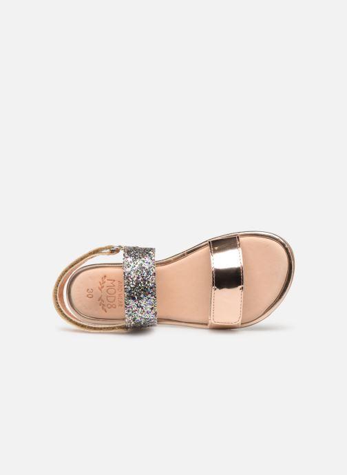 Sandales et nu-pieds Mod8 Paillette Rose vue gauche