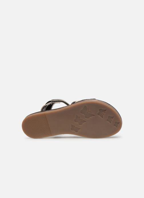 Sandales et nu-pieds Mod8 Paradis Noir vue haut