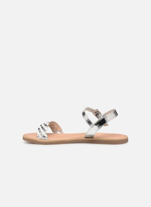 Sandales et nu-pieds Mod8 Parigirly Argent vue face