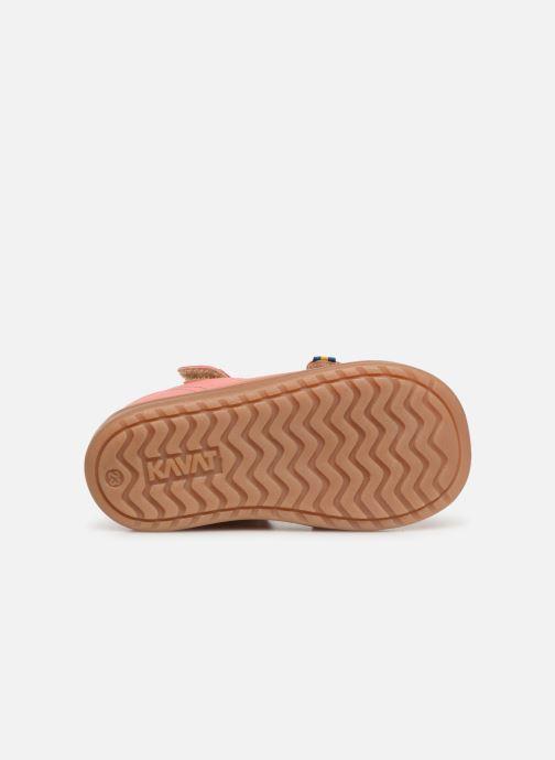 Sandales et nu-pieds Kavat Trona EP Rose vue haut