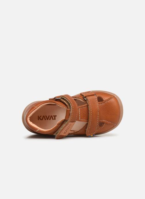 Sandales et nu-pieds Kavat Trona EP Marron vue gauche