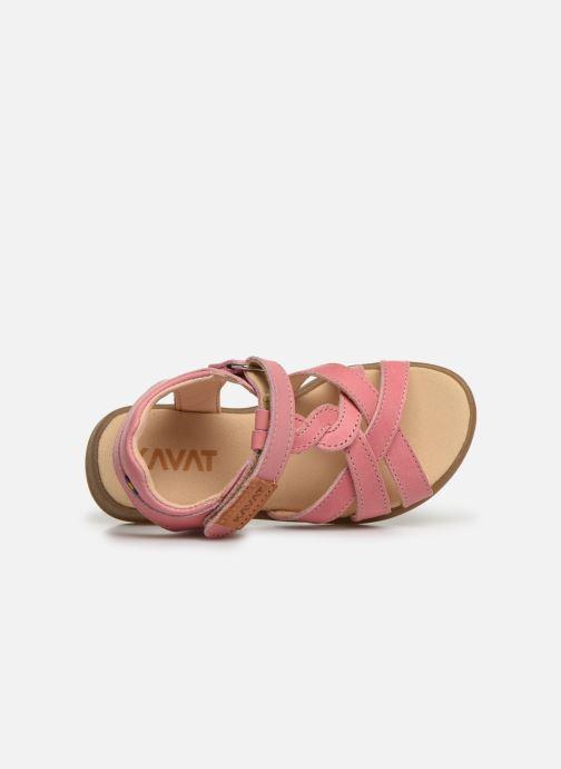 Sandales et nu-pieds Kavat Mala EP Rose vue gauche