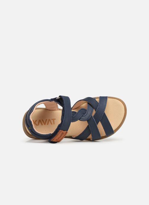Sandales et nu-pieds Kavat Mala EP Bleu vue gauche