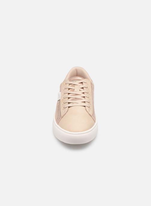 Baskets Esprit Colette Shiny LU Beige vue portées chaussures