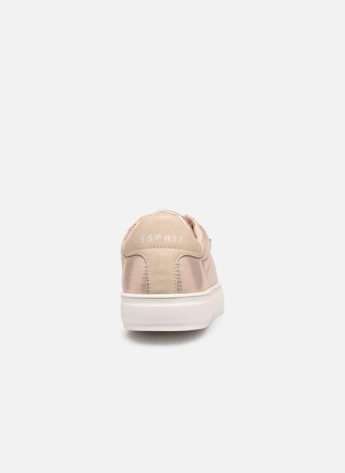 Baskets Esprit Colette Shiny LU Beige vue droite