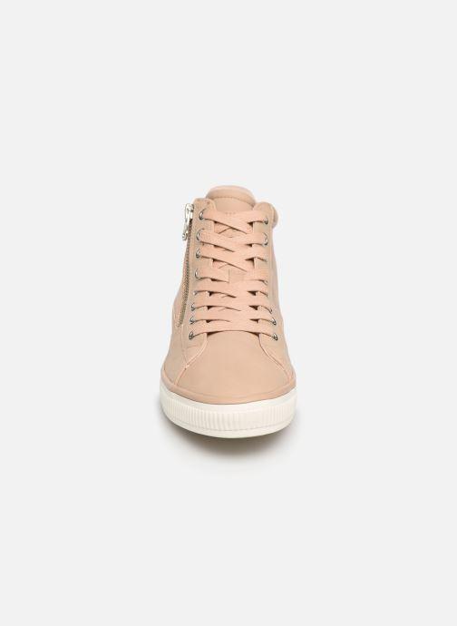 Baskets Esprit Sonetta Zip Bootie Beige vue portées chaussures