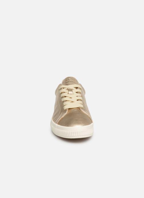 Baskets Esprit Sonetta met LU Or et bronze vue portées chaussures