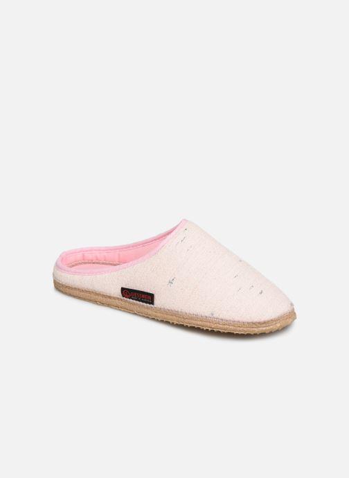 Pantoffels Giesswein Plauen I Roze detail