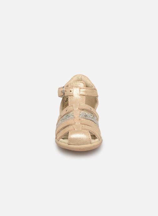 Sandales et nu-pieds Noël Mini Lady Or et bronze vue portées chaussures