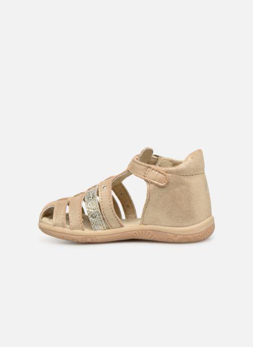 Sandales et nu-pieds Noël Mini Lady Or et bronze vue face