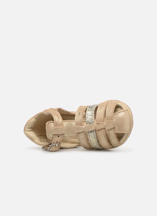 Sandales et nu-pieds Noël Mini Lady Or et bronze vue gauche