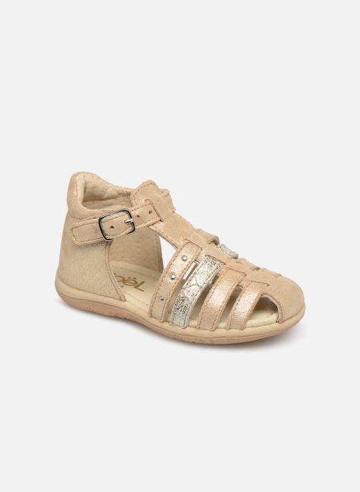 Sandales et nu-pieds Noël Mini Lady Or et bronze vue détail/paire