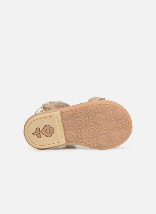 Sandales et nu-pieds Noël Mini Seville Or et bronze vue haut