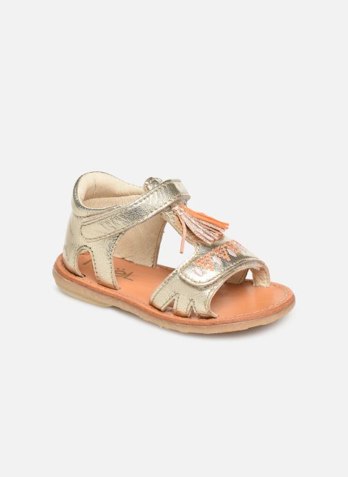 Sandales et nu-pieds Noël Mini Seville Or et bronze vue détail/paire