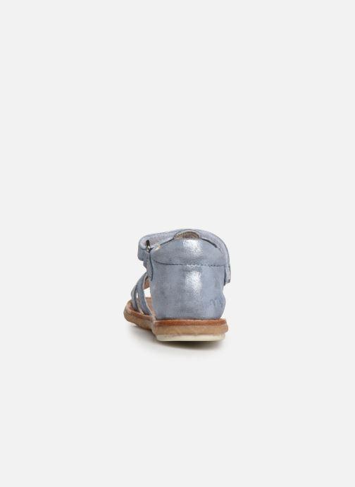 Sandales et nu-pieds Noël Mini Seville Bleu vue droite