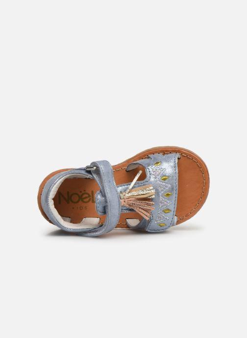 Sandales et nu-pieds Noël Mini Seville Bleu vue gauche