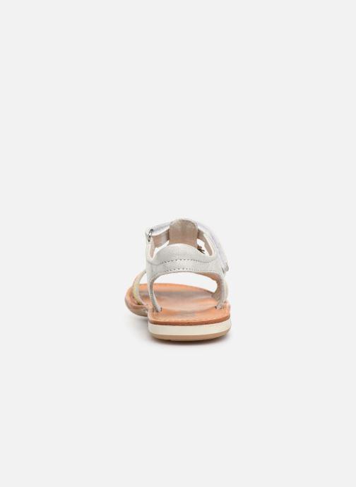 Sandales et nu-pieds Noël Saigon Argent vue droite