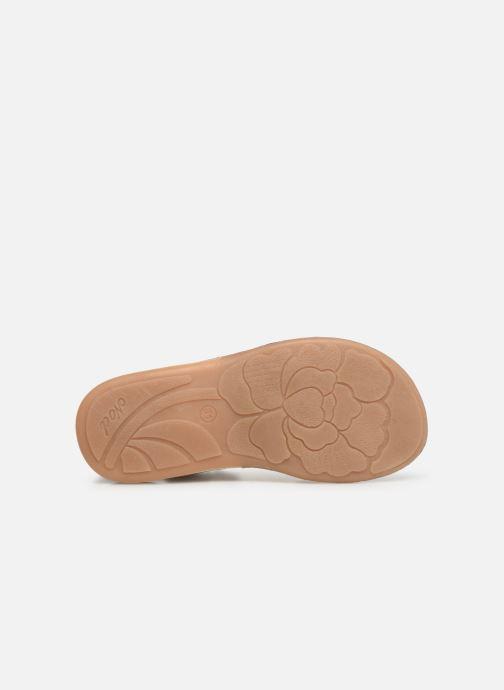 Sandales et nu-pieds Noël Saigon Argent vue haut
