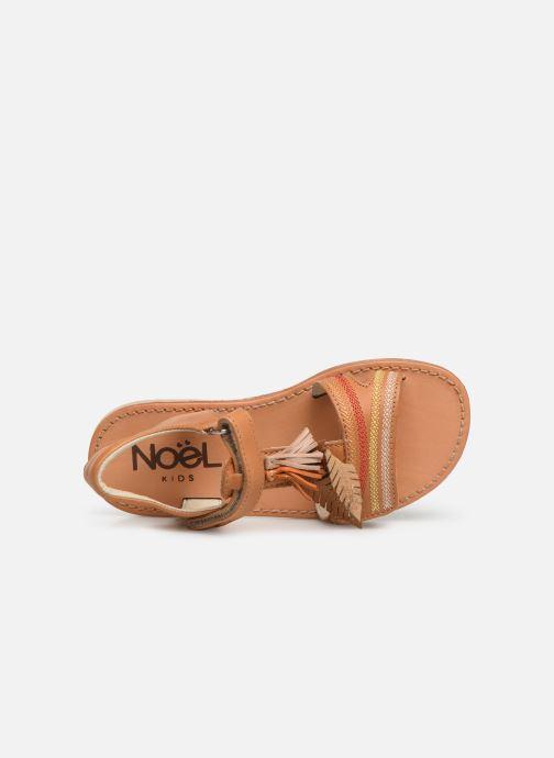 Sandales et nu-pieds Noël Saigon Marron vue gauche