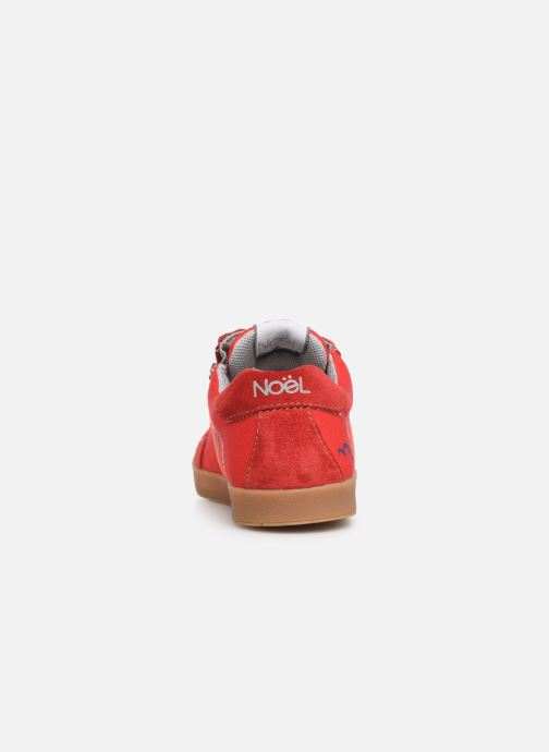 Sneaker Noël Bruce rot ansicht von rechts