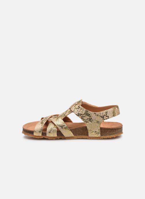 Sandales et nu-pieds Bisgaard Albert Or et bronze vue face