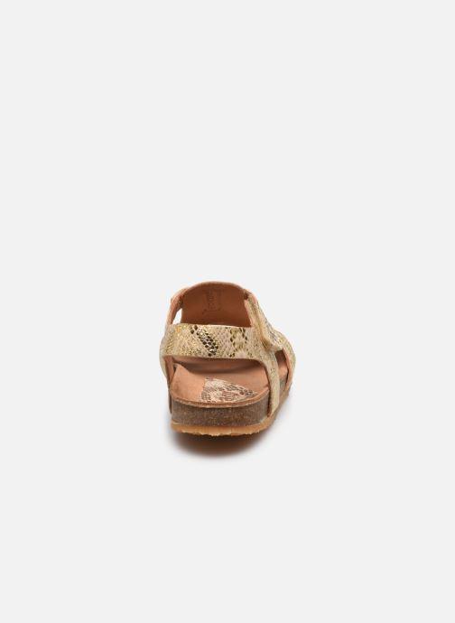 Sandales et nu-pieds Bisgaard Albert Or et bronze vue droite