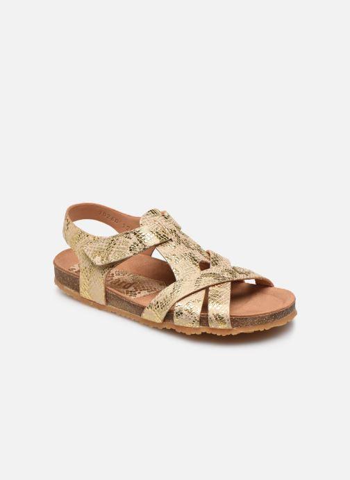 Sandales et nu-pieds Bisgaard Albert Or et bronze vue détail/paire