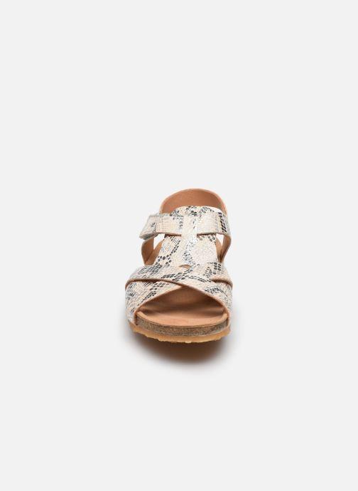 Sandales et nu-pieds Bisgaard Albert Argent vue portées chaussures