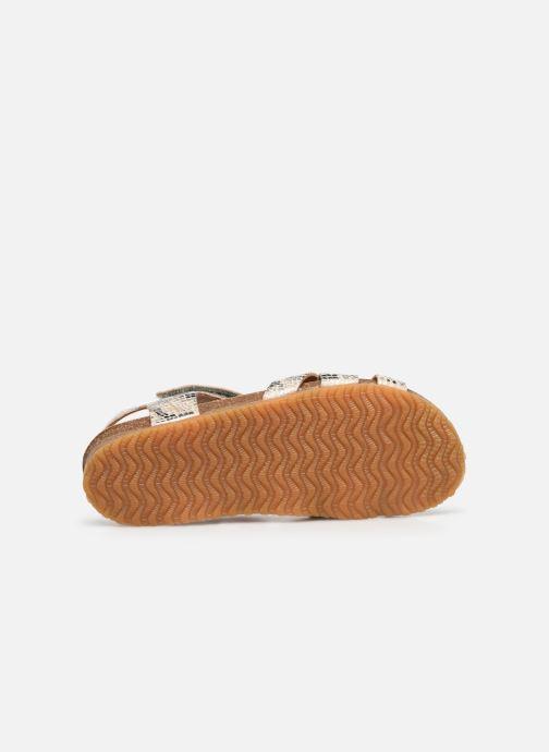 Sandales et nu-pieds Bisgaard Albert Argent vue haut