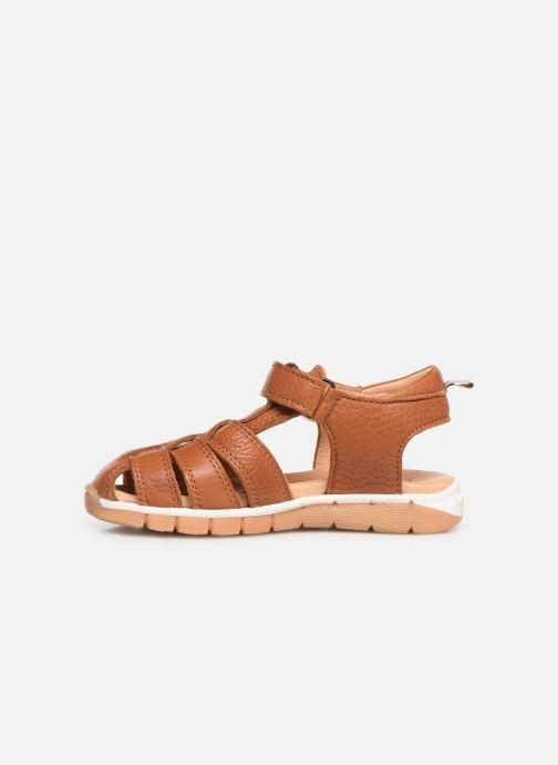 Sandales et nu-pieds Bisgaard Aleksi Marron vue face