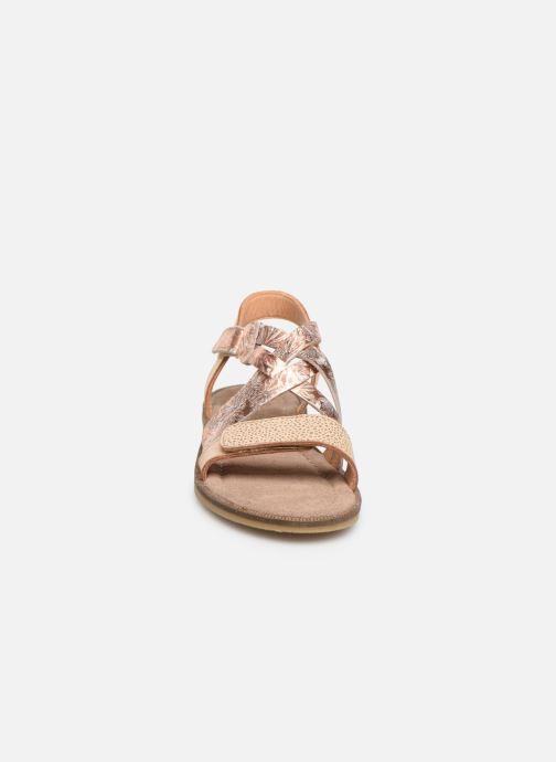 Sandales et nu-pieds Bisgaard Barbara Or et bronze vue portées chaussures